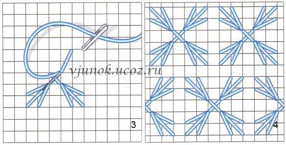 Схемы вышивка на варежках своими руками схемы мастер класс