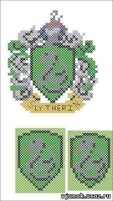 Схема для вышивки слизерин